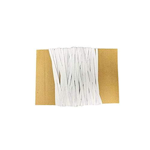 Faplu クラフト製品編組ロープ, DIYのゴムひも多色の幅6mmの自家製の顔の保護ロープのゴムひも自家製の洋服縫製耐久性のある織ロープ弾性バンド超弾性ブロードバンドのロール