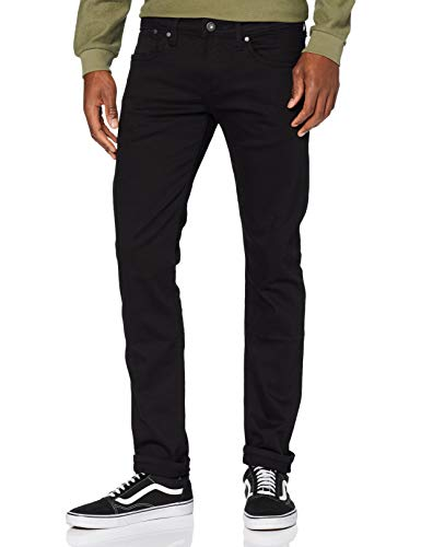 Pepe Jeans Hatch Vaqueros, Negro (Denim 11Oz Stay Black), 38W/32L para Hombre