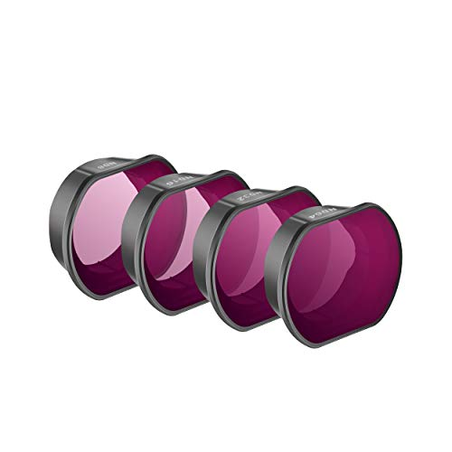 STARTRC Filters für DJI FPV Combo 4er-Pack (ND8, ND16, ND32,ND64) ND Kamera Objektive Filter für DJI FPV Combo Drone