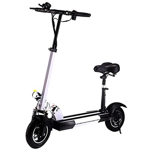 XXXD Scooter eléctrico de 10 pulgadas, vespa de viajero adulto mini plegable de batería de litio Scooter portátil para viajes cortos blanco