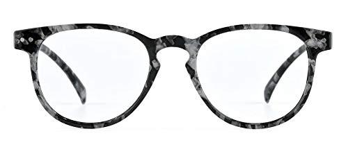 Nordic Vision Lindesberg +1,00 leesbrillen met Scandinavische look - 22% blauw licht filter - Anti glans - Anti kras laag - UV400 bescherming - opbergetui