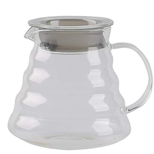 YQQ-Cafetière Coffee Pot Decanter/Carafe régulier - Nouvelle Forme de Verre Design - Poignée Ergonomique - Capacité 660ml