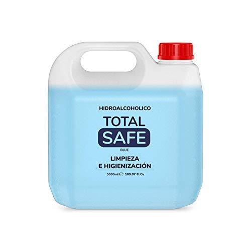 Total Safe 5 Litros Garrafa   Ideal para una higiene profunda de manos -  Hidroalcoholico Liquido