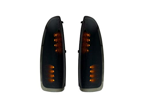 Roane Concepts LED Door Mirror Light Turn Signal Indicator - Replacement for 2003-2007 Ford F250, F350, F450, F550 Super Duty, 2003-2007 Excursion (Smoke)