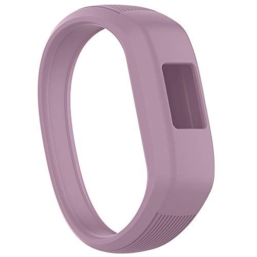 Meifox Compatible with Garmin vivofit JR Bands for Kids,Solf Silicone Replacement Band with Garmin Vivofit JR/Vivofit JR 2 / Vivofit 3 (Purple, Small)