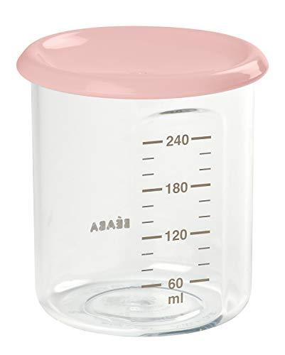 Béaba 912540 - Potito de conservación para la comida del bebe, con tapa, 240 ml, Nude