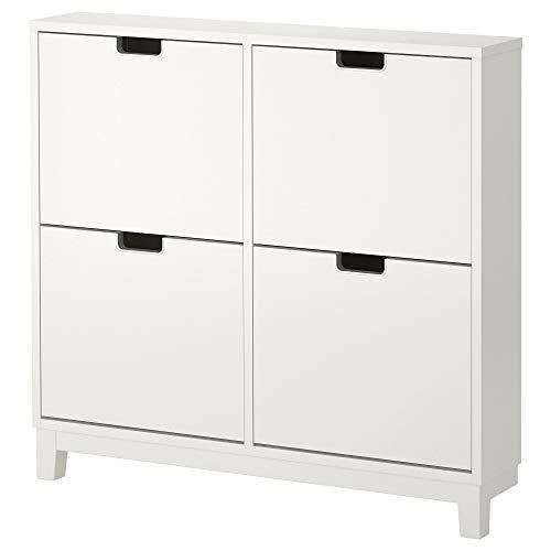 Ikea STÄLL Skoskåp med 4 fack, vit