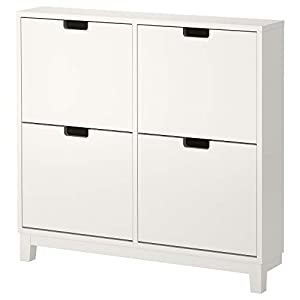 Ikea STÄLL Zapatero con 4 compartimentos, blanco