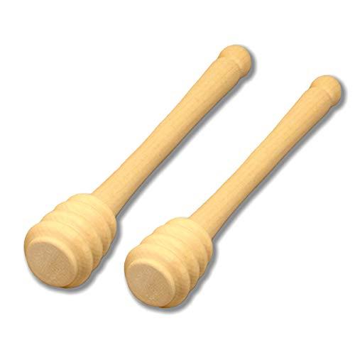 ImkerPur Honiglöffel (2 Stück) aus nachhaltigem Ahornholz, Handgefertigt in Familienbetrieben, für den stilvollen Honiggenuss