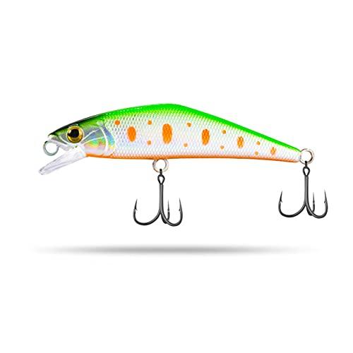 ZYZ 2pcs señuelos de Pesca con Ganchos Agudos de púa 63mm 4.8g Accesorios para señuelos de Pesca para Agua Dulce, Agua Salada, Equipo de Pesca (Color : 006)