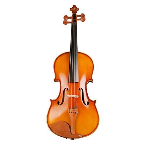 LOIKHGV Studenten Ahorn Violine Saitenmusikinstrument mit Koffer Bogen Saiten Komplettset Jujube Holz Zubehör, 48cm