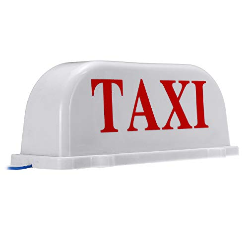 LICHONGUI 26cm Universal Taxi Kabine Zeichen Auto Magnete Lampe Dach Top Topper Licht wasserdichte Gelb (Color : White)