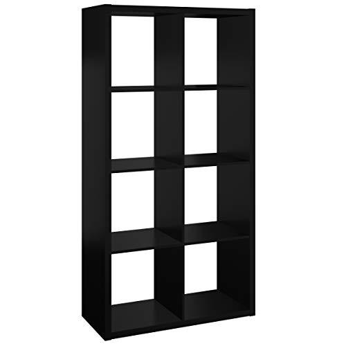 ClosetMaid 4587 Decorative Open Back 8-Cube Storage Organizer Black