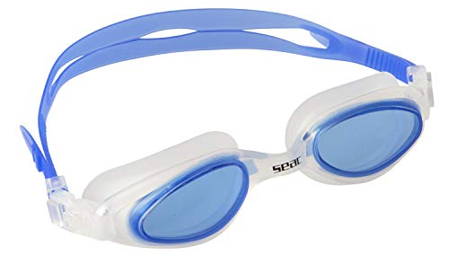 Seac Brille STAR Schwimmbrillen für Pool und Freiwasser für Damen und Herren, blau, one size
