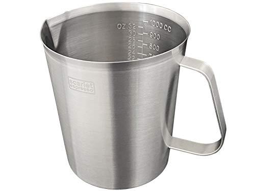 scarlet espresso   Milchkännchen »Graduata« Messbecher Pitcher Krug Gastro Milchaufschäumer Skala aus Edelstahl mit Griff für Küche Backen Kaffee (700 ml)