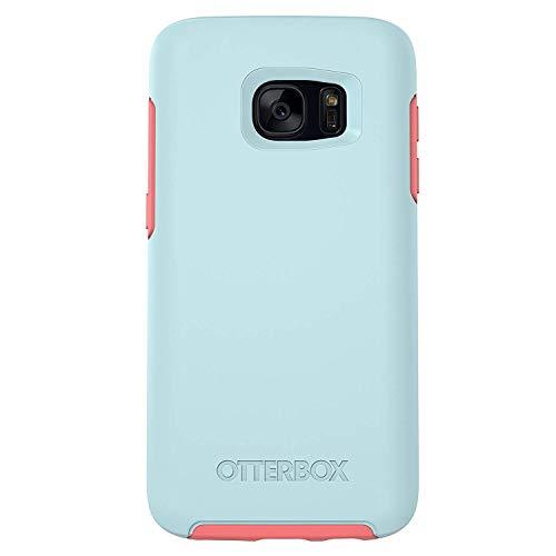OtterBox Symmetry Series Case for Samsung Galaxy S7 - Boardwalk (Bahama Blue / Candy Pink) (Renewed)