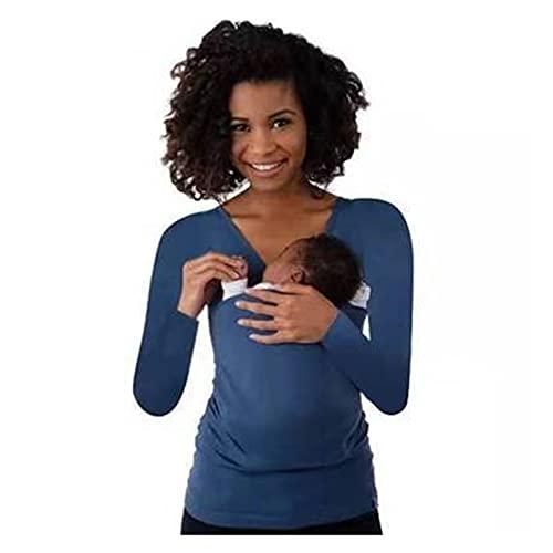Fular Portabebés Elástico Talla asiática 5XL Baby Carrier Clothing K angaroo Camiseta para Padre Madre con bebé Camiseta multifunción de Bolsillo Grande de Manga Corta