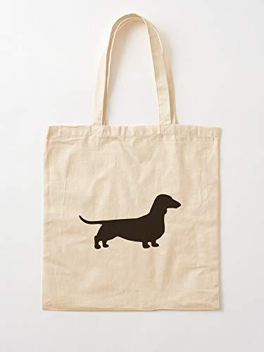 Bargaineddeals Dacshound Dacshund Dachshund Weiner Wiener Dog Dachsie Doxie Canvas Tote Umhängetasche Stylish Shopping Casual Bag Faltbare Reisetasche