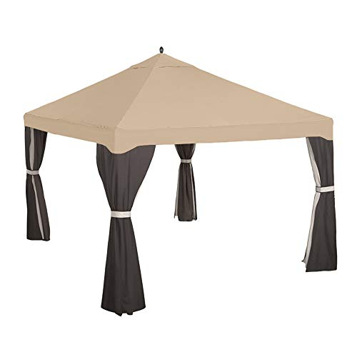 Garden Winds Replacement Canopy Top Cover for Garden Treasures 10x12 Gazebo - Riplock 350 - Beige