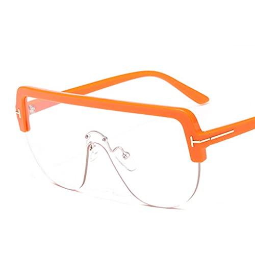Diseñador de la marca Uv400 Mirror Gradient Steampunk Gafas de sol de gran tamaño para hombres y mujeres Gafas de una pieza Gafas 9