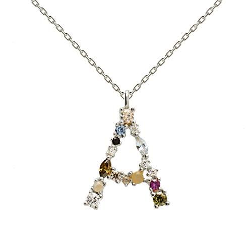 Necklace P D PAOLA CO02-096-U silver, letter A