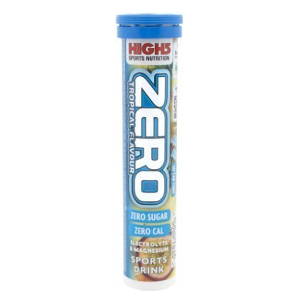 High5 Zero Electrolyte Sports Drink Tube of 20 tabs - Buy 1 Get One Free (Tropical Flavour)
