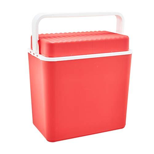 T.I.P. Tip Kühlbox | 24 Liter | rot | für Flaschen bis 1,5 Liter | Kühltasche | Isolierbox | Thermobox