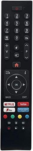 Baatogoo RC43137P Replacement Remote Control for Bush Digihome Techwood Finlux 32-FHD-5620 Electriq 30101759 RC43137 Smart LED TVs with Prime Video Netflix Youtube Freeview F Play Buttons
