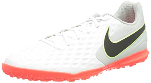 Nike Herren Tiempo Legend 8 Club TF Football Shoe, White/Black-Grey Fog-Bright Crimson-Ghost Green, 43 EU