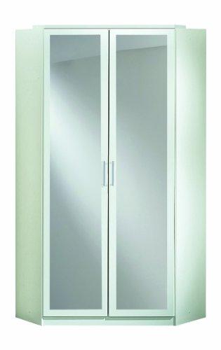 Wimex Kleiderschrank/ Eckschrank Click, 2 Türen, 1 Spiegel, (B/H/T) 95 x 198 x 95 cm, Weiß