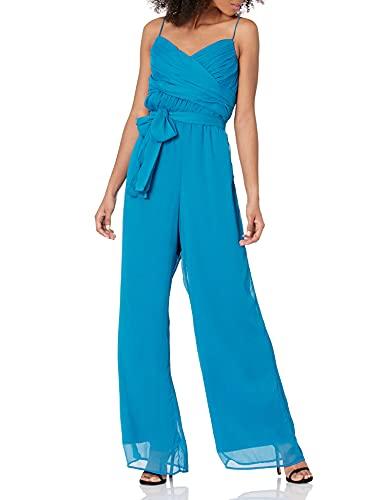 GUESS Women's Eco Sleeveless Lea Palazzo Jumpsuit, Grecian Blue, Small