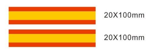 Lote 2 pegatinas vinilo impreso para coche, pared, puerta, nevera, carpeta, etc. Bandera de espana