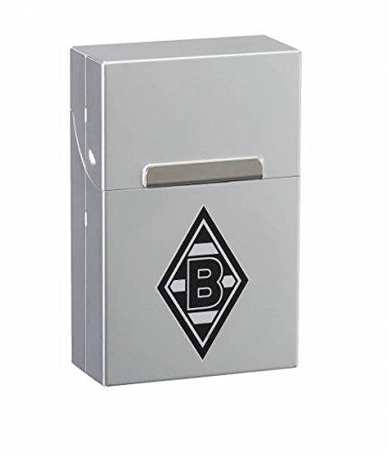 Zippo Borussia Mönchengladbach-AluBox Chrome-Gravur Zigaretten Box, Silber, 6 x 4 x 2 cm