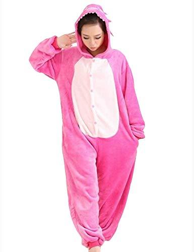 Pijamas Disfraces Onesie Animal Adultos kigurumi Carnaval Halloween o Fiesta Espectáculo Navideño Mono Cosplay Ropa Interior de Zoológico Invierno Unisex Mujeres y Hombres - M - Stitch Rosa