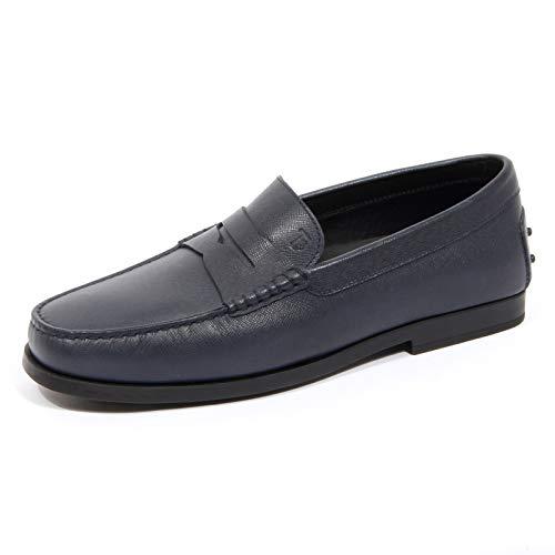 Tod's G0756 Mocassino Uomo Gomma Dark Blue Loafer Shoes Men [9.5]
