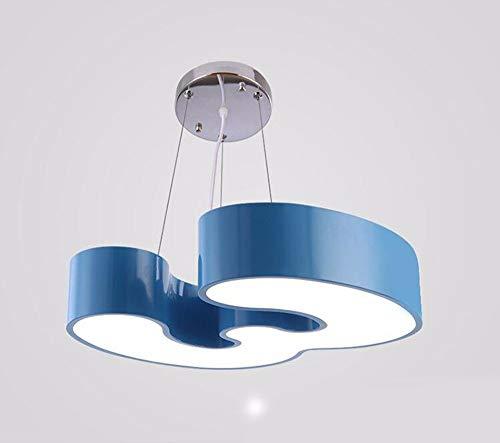 * Hanglamp kroonluchter vintage retro moderne lamp slaapkamer voor kinderen licht slaapkamer jongens en meisjes kinderkamer blauw 45 x 40 x 10 cm restaurant decoratie
