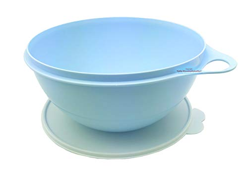 Tupperware® Maximilian 4,5 Liter blau (hell) Teigschüssel Rühr-Schüssel + Mini-Kühlschrank-Box NEU+OVP