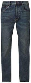 FashionLabels4Less Ex High Street Brand 1343 Mens Regular Fit Jean with Stretch Straight Leg