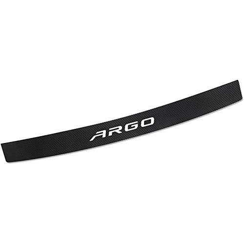 HZYDD Car Rear Guard Plate,For Fiat ARGO Bumper Protector Carbon Fiber Trim Trunk Sill Plate Scuff Strip Anti-Scrape Resistant Cover Prevents Wear Fittings
