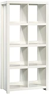 Sauder HomePlus Cube Bookcase, 8 Shelves, White