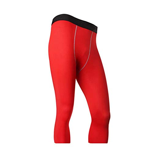 Big Bargain Store Sports Tights Leggings Fitness Pants 4 pour hommes Cool Compression Running Tights Collants 3 red XXL