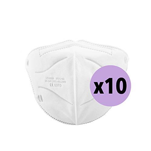 YIDA Pack 10 Mascarillas FFP2, Tamaño Pequeño, [Certificadas y Homologadas ] Desechables, 5 Capas. (M3)