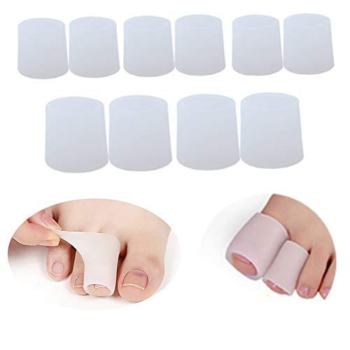 yyuezhi Zehenkappen Silikon Soft Gel Zehenschutz Zehenschoner für Große Gel Zehenkappen Geben Sie Schmerzlinderung durch Gehen Oder Milde Aktivität zu Verhindern Schwielen und Blasen (Anzug öffnen)