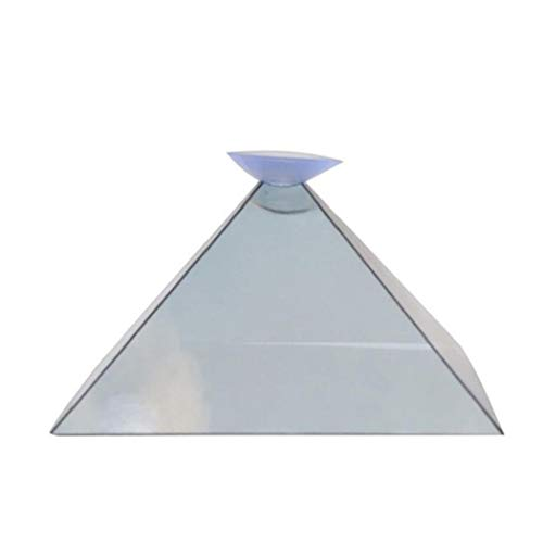 3d Hologram Pyramid Display Projector Video Stand Universal for Mobile Phone with Glasses Cloth