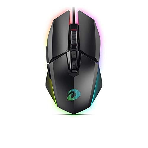 ZHI BEI JJBHD EM915 RGB Gaming Mouse PMW3336 10800 DPI 50 Millions de Vie 7 Bouton Souris avec KBS Boutons omnidirectionnel Trigger for Gamer Souris Confort Ergonomique (Color : Skin Material)