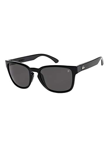 Quiksilver Herren Rekiem Polarised Männer Sonnenbrille, Black/Grey/Grey-Combo, 1SZ