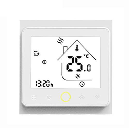 Funien Termostato, Smart Thermostat Intellight Controlador de Temperatura 5A Calefacción por Suelo Radiante para el hogar Sin Wi-Fi - Blanco