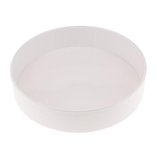LOVIVER Kunststoff Runde Ikebana Suiban Vase Topf Bonsai Container - Weiß 28cm