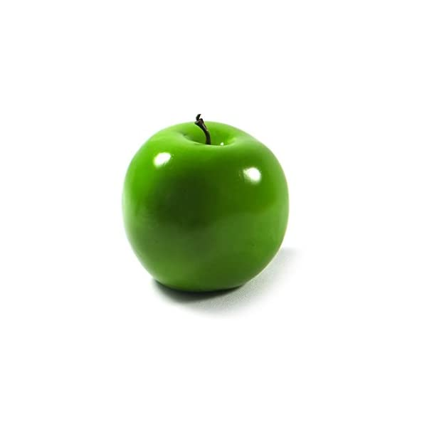 6pc Artificial Granny Smith Apple Apples – Plastic Green Fruit – Six Pieces