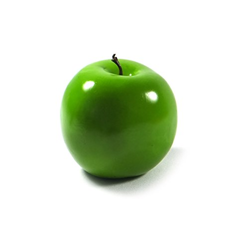 6pc Artificial Granny Smith Apple Apples - Plastic Green Fruit - Six Pieces